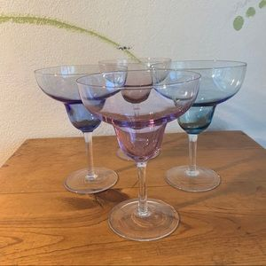 Margarita Glasses - Jewel tones (Set of 4)